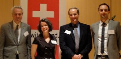 Swissnex tranp event-cr-Fred Salvucci, Amy Cotter, William Lyons, Eric Cosandey